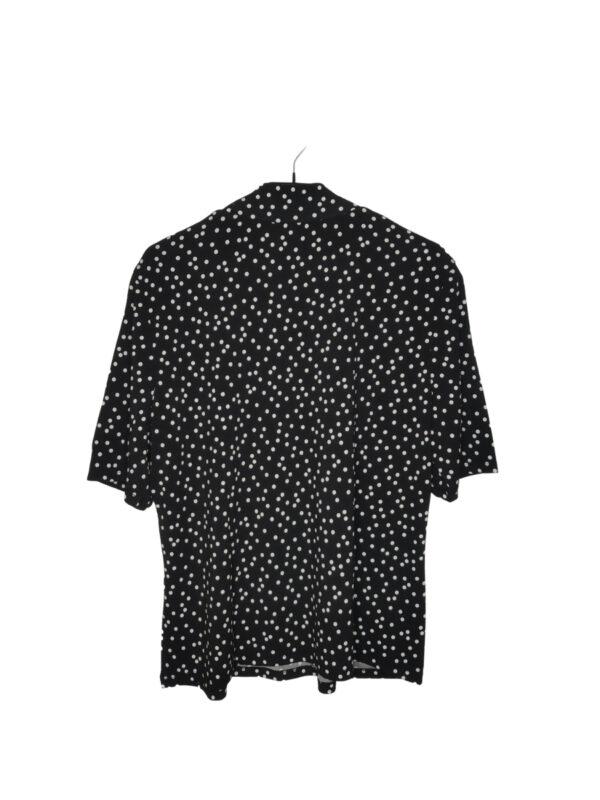 Czarna bluzka w białe kropki z półgolfem. Nowa z metką.