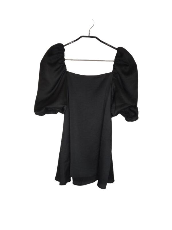 Czarna bluzka z bufiastymi rękawami. Nowa z metką.