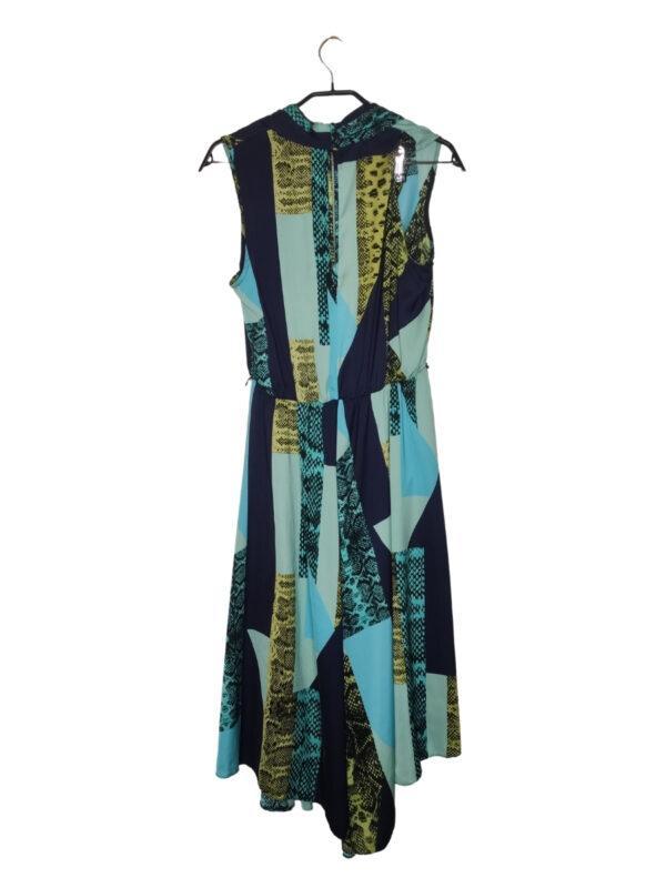 Wielokolorowa długa sukienka. Przewiewna, idealna na lato. Brak paska.